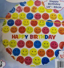 בלון יום הולדת סמיילי