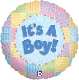 it's a boy- עגול צבעוני