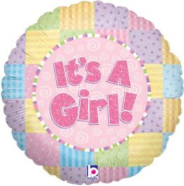 it's a girl- עגול צבעוני